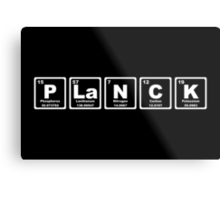Planck - Periodic Table Metal Print