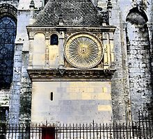 Chartres Cathedral ( 5 ) =  The Clock by Larry Lingard-Davis