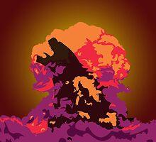 Godzilla Atomic Bomb Blast by UberBoy