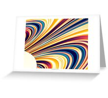 Color and Form Abstract - Solar Gravity and Magnetism 5 Greeting Card