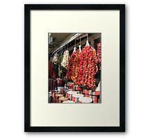 Dry peppers Framed Print