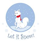 Let It Snow! (Arctic Fox) by thekohakudragon