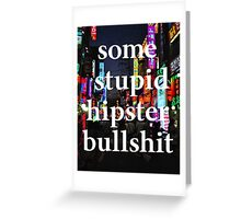 Hipster Greeting Card