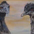 Surprise!  Emu Painting! by Kay Cunningham
