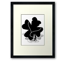 I RISH -  Shamrock with Ear Buds  Framed Print