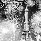 Brilliant Night In Paris - Eiffel Tower Fireworks by Mark Tisdale