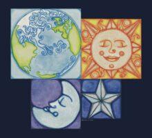 Earth Sun Moon Star by Amy-Elyse Neer