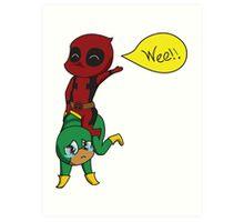 Yee Haw Deadpool! Art Print