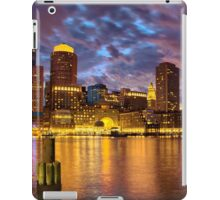 Sun dusk over Boston Harbor  iPad Case/Skin