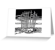 THE TEN OF SWORDS Greeting Card