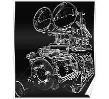 """""""Shottie"""" - Supercharged V8 Engine Poster"""