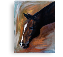 Horse - Apple Canvas Print