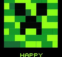 Minecraft Creeper Birthday by Addison