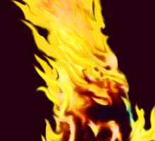 BURNING MAN (Flames) Sticker