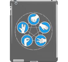 Rock, Paper, Scissors, Lizard, Spock iPad Case/Skin