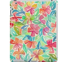 Tropical Floral Watercolor Painting iPad Case/Skin