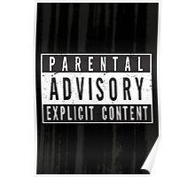 Parental Advisory Label [DISTRESSED] Poster