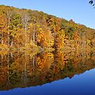 Pounds Hollow Lake in Autumn by Sandy Keeton