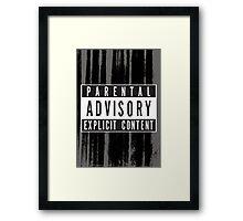 Parental Advisory Label [CLEAN] Framed Print