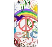 Peace - Colorful Mash-up iPhone Case/Skin