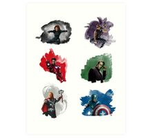 The Avengers + Watercolours Art Print
