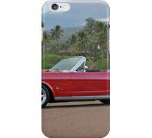 1966 Ford Mustang Convertible iPhone Case/Skin