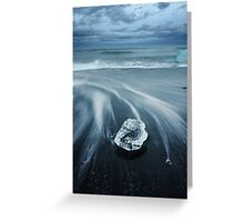 The old ice and the sea Greeting Card