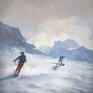 Last Run, Les Arcs by Stephen Mitchell
