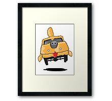 Mutt Cutts Dumb Shag Waggon Dog Car Framed Print