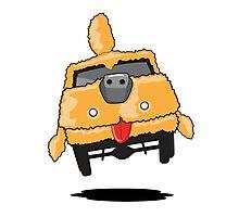 Mutt Cutts Dumb Shag Waggon Dog Car Photographic Print