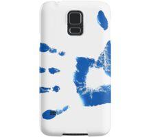 Blue Handprints Samsung Galaxy Case/Skin