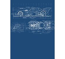 Batmobile Blueprint Photographic Print