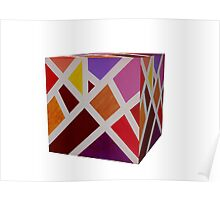 A Cube of Piet's Abstract Poster