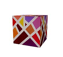 A Cube of Piet's Abstract Photographic Print