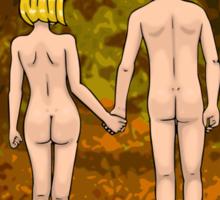 Nude Walk in the Autumn Sticker