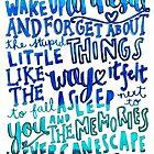 Amnesia Lyric Art by maddiedrawings
