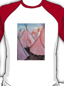 """Tepees at Sunset"" T-Shirt"
