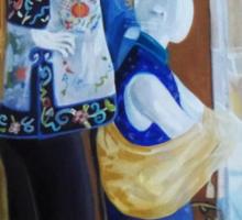 """""""Mannequins in Chinatown"""" Sticker"""