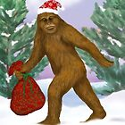 Bigfoot Santa by Kim  Harris