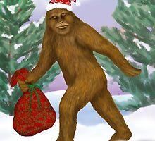 Bigfoot Santa by Kim  Harris