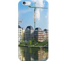 Panoramic view of a building construction iPhone Case/Skin