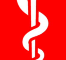 Red Star of Life Sticker