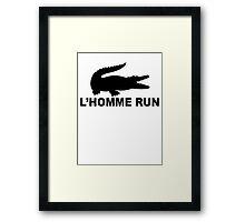 L'Homme Run Framed Print