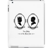 Two Sides of the Same Coin (black) iPad Case/Skin