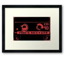 1980's mixtape Framed Print