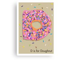 D is for Doughnut Canvas Print