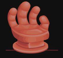 Glitch furniture chair armchair orangehand by wetdryvac