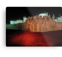 Poppies at the Tower of London - At Night #2 Metal Print