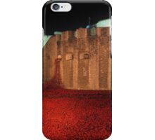 Poppies at the Tower of London - At Night #2 iPhone Case/Skin