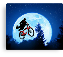 Pee's Wees Extraterrestrial Adventure   Canvas Print